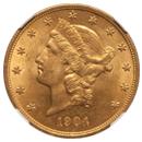 1904 $20 MS62 NGC