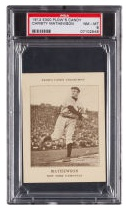 1912 E300 Plow's Candy Christy Mathewson PSA NM-MT 8