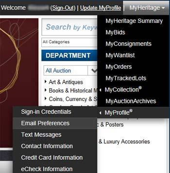 Website Menu Image