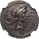 Sharp Julius Caesar Portrait Denarius