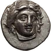 CARIAN ISLANDS. Rhodes. Ca. 340-316 BC. AR didrachm (21mm, 6.89 gm, 12h)
