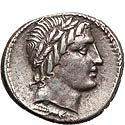 Lovely Anonymous denarius ca. 86 BC