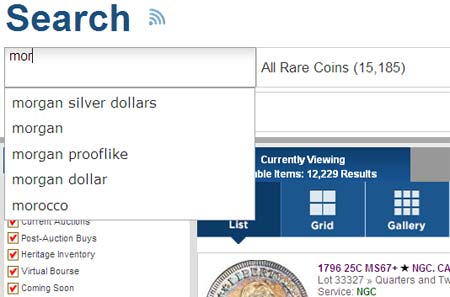 search on coins for mor