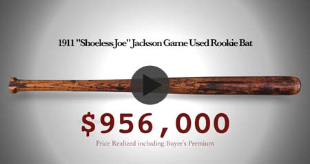 Shoeless Joe Jackson's game-used bat