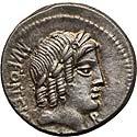 Mn. Fonteius (85 BC). AR denarius