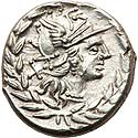 Cn. Gellius (138 BC). AR denarius