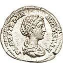 EF denarius of Plautilla