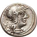 Q. Philippus (129 BC). AR denarius