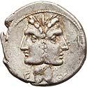 C. Fonteius (114-113 BC). AR denarius