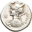P. Nerva (113-112 BC). AR brockage denarius