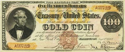 coin 122113 5 500 1882 Gold Certificate May Bring $2 Million At FUN Currency Signature Auction