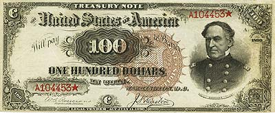 Fr. 377 $100 1890 Treasury Note PCGS Extremely Fine 45