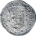 Carlos and Joanna 8 Reales ND (1538). XF