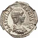 Scarce Plautilla denarius