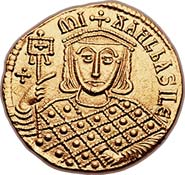Beautiful solidus of Michael III 'The Drunkard'