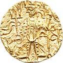 Vasudeva II gold Dinar