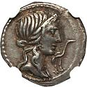 Choice VF Metellus Denarius