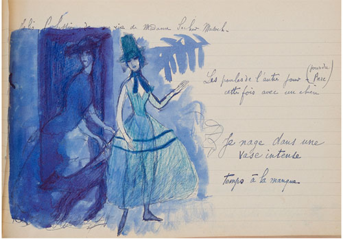Marie Laurencin. Manuscript Sketchbook and Autograph Letter Signed