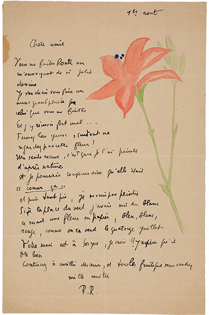 Raymond Radiguet. One Autograph Letter Signed. 'R.R.' and One Autograph Poem