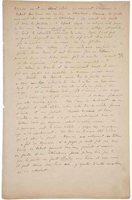 Paul Gauguin. Autograph Manuscript Signed. 'On Ugliness:...'